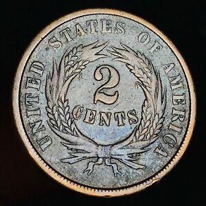 1864-Two-Cent-Piece-2C-High-Grade-Civil-War-Era-Good-Date-US-Copper-Coin-CC4866