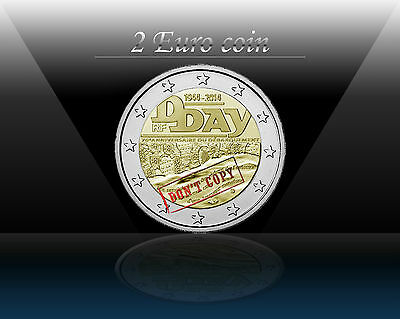 "FRANCE 2 EURO coin 2014 (No1) "" 70 Years since D - Day "" UNCIRCULATED"