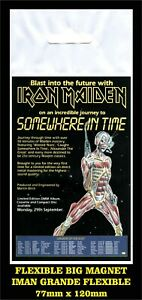 Iron-Maiden-Somewhere-in-time-flyer-advertising-iman-Premium-BIG-magnet