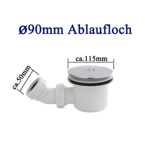 Siphon Flexanschluss Ablaufgarnitur Set  Ø90mm für Duschtasse Ablaufloch inkl
