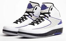 2014 Nike Air Jordan 2 II Retro sz 12. White Dark Concord Grey Black. 385475-15