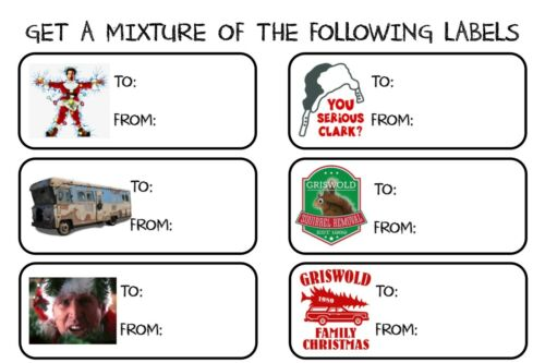 Mix Of 30 Christmas Vacation TO ~ FROM Gift Tags Present Name Stickers Labels