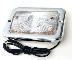 54 55 Chevy Pickup PU Truck Parking Park Lamp Light Assembly Clear 6V CPPL5455-2
