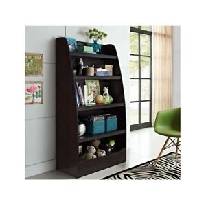 Image Is Loading Furniture Bookcase Organizer Dorm Bedroom Storage Dark Wood