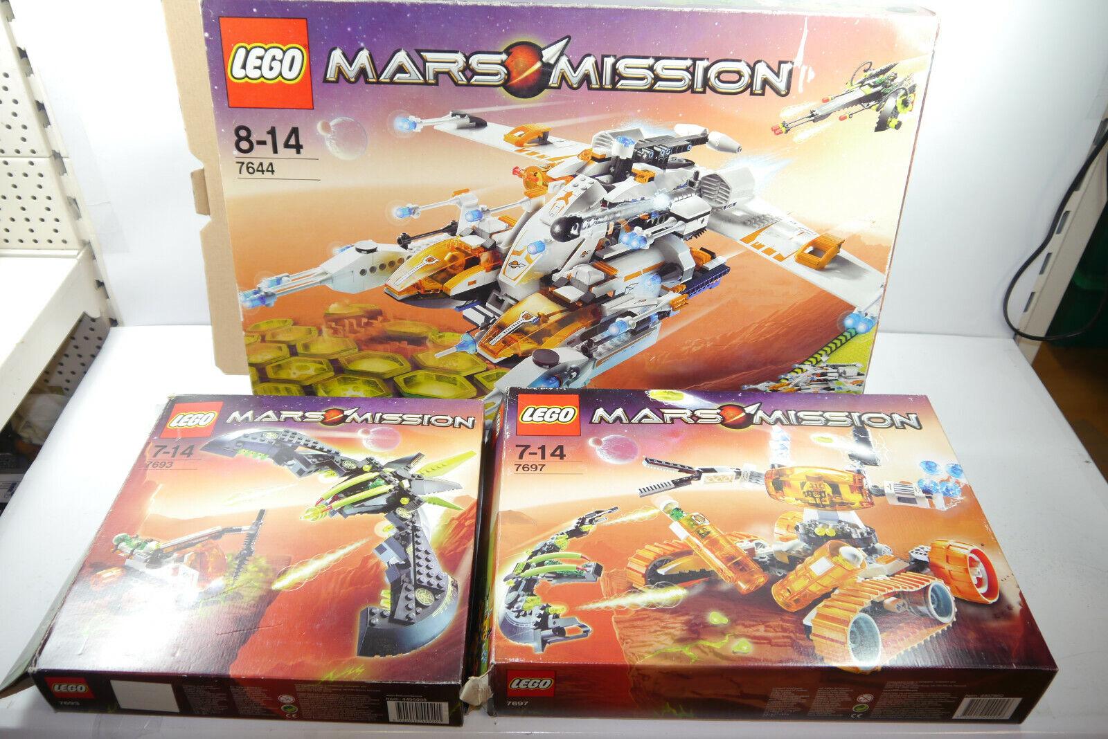 Lego Mars Missione 4644  4697 7693 con scatola + Istruzioni (F10)  sport caldi