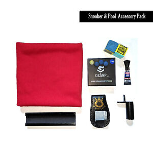 Snooker-amp-Pool-Accessory-Set-Pack-Cue-Tips-Chalk-Towel-File-Holder-Glue-Ext