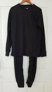 NEW! Women's Winter Underwear Set Top SZ/L & Pants SZ/M Long Johns Black NWOT