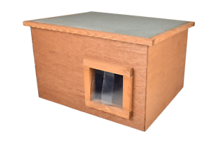 Feral-Stray-Outdoors-Cat-House-Kennel-With-Thermal-Barrier-Flap-Shelter-Cat-Den