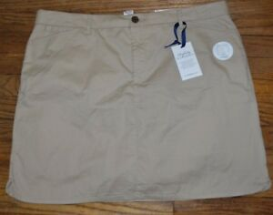 Croft-amp-Barrow-Classic-Fit-Skort-Comfort-Waist-Perfectly-Slimming-Tan-Khakis