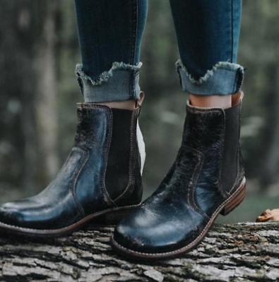 Vitalo Womens Kitten Heel Pointed Toe Chelsea Ankle Boots Ladies Buckle Booties