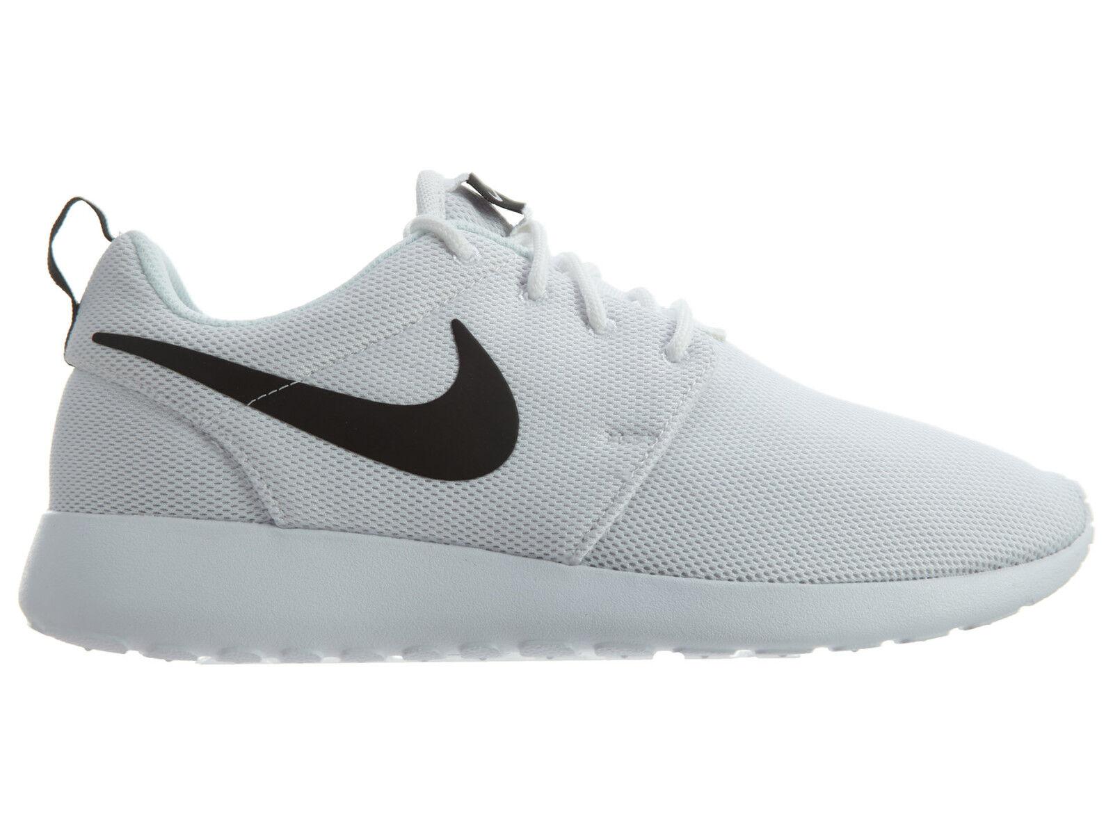Nike Roshe One Womens 844994-101 White Black Mesh Running Shoes Wmns Size 7