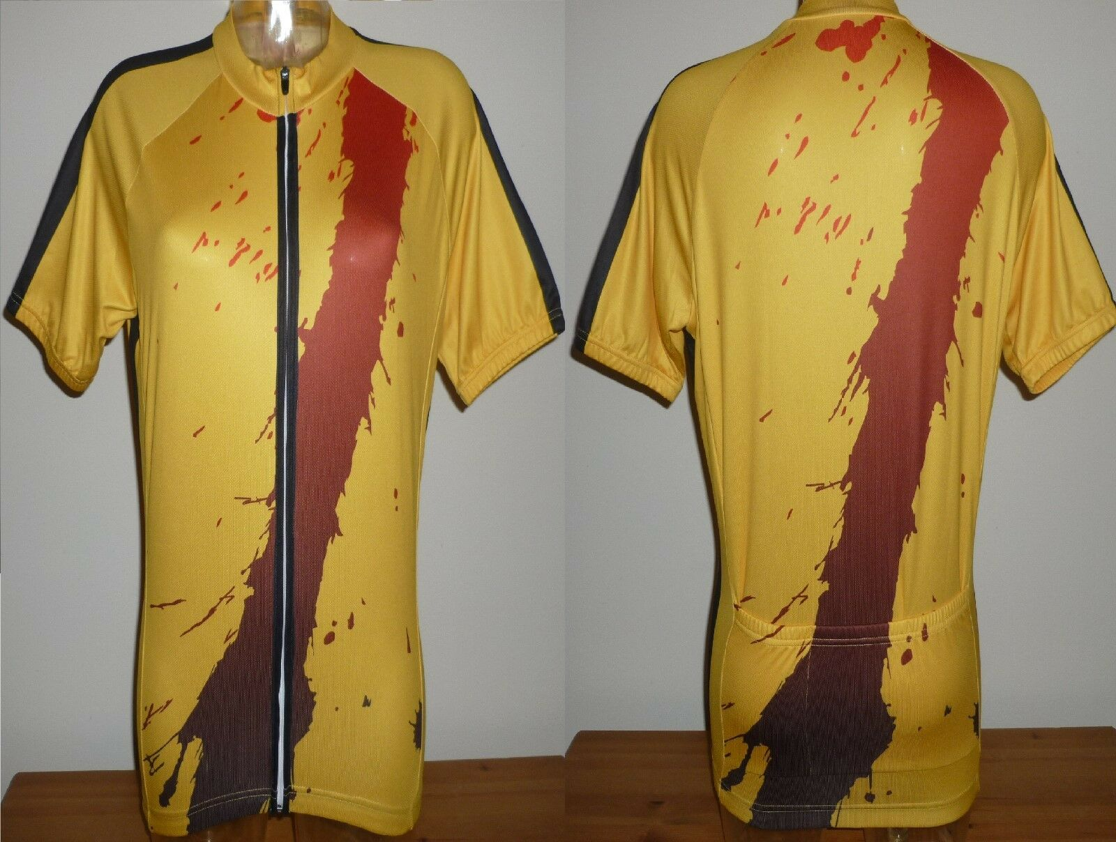 Rare Cycling shirt Yellow jersey KILL BILL Bruce Lee Tour De France