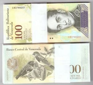 VENEZUELA-BUNDLE-OF-300-x-100000-BOLIVARES-NOTE-FUERTE-UNC-BANKNOTES-NEW-2017