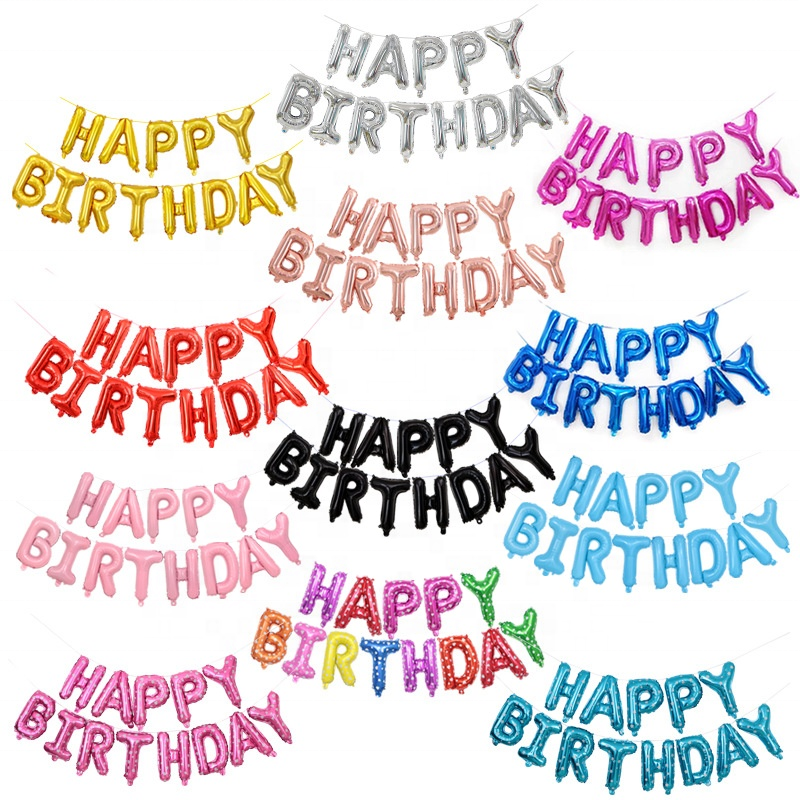 LARGE HAPPY BIRTHDAY SELF INFLATING BALLOON BANNER £3.29 (up to 7% Off w/multibuy) @ eBay