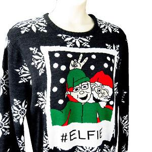 5f49b015a2ef Ugly Christmas Sweater Womens Sz XL Elf Santa Hashtag Elfie ...