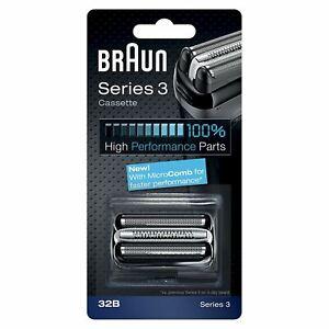Braun-32B-serie-3-Cartucho-Cortador-Hoja-de-Repuesto-Afeitadora-electrica-de-cabeza-Negro