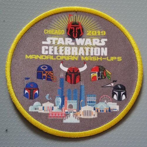 Star Wars Celebration Chicago 2019 Mandalorian Mash Ups patch pins /& trading...
