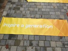 LONDON Paralympic Olympics 2012 Flag Sign Banner Olympic Memorabilia Yellow