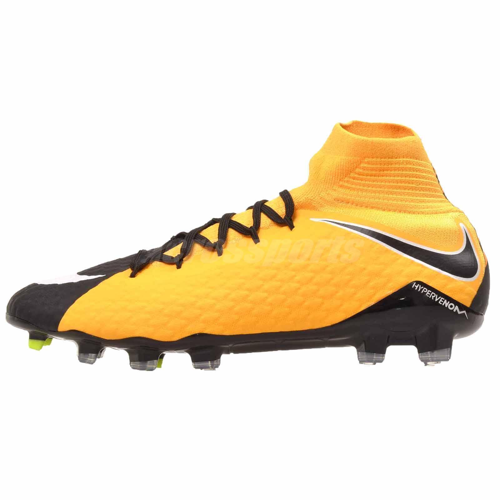 Nike Hypervenom Phatal III DF FG Soccer Hommes Chaussures Laser Orange 852554-801