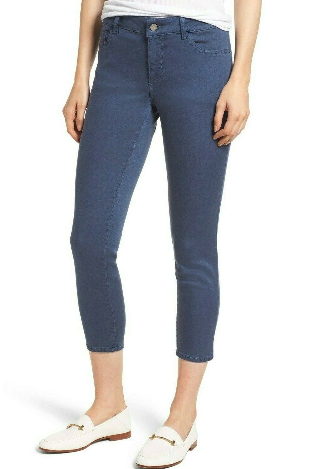 188 NWT DL1961 Sz25 FLORENCE MIDRISE INSTASCULPT CROPPED SKINNY JEANS blueEBELL
