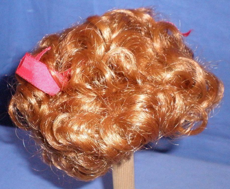 Parrucca Bambola Mohair Rosso 11  a 11.5 , taglio di capelli Ricci/Germania