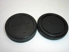 OLYMPUS LR-1 rear lens cap and BC-1 camera body cap set for Four Thirds  ( 4/3 )
