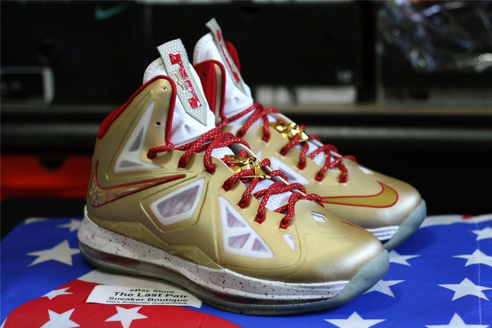 DS NIKE LEBRON X RING CEREMONY PROMO SAMPLE 7.5 GOLD rouge PE MVP CHAMPIONSHIP 10