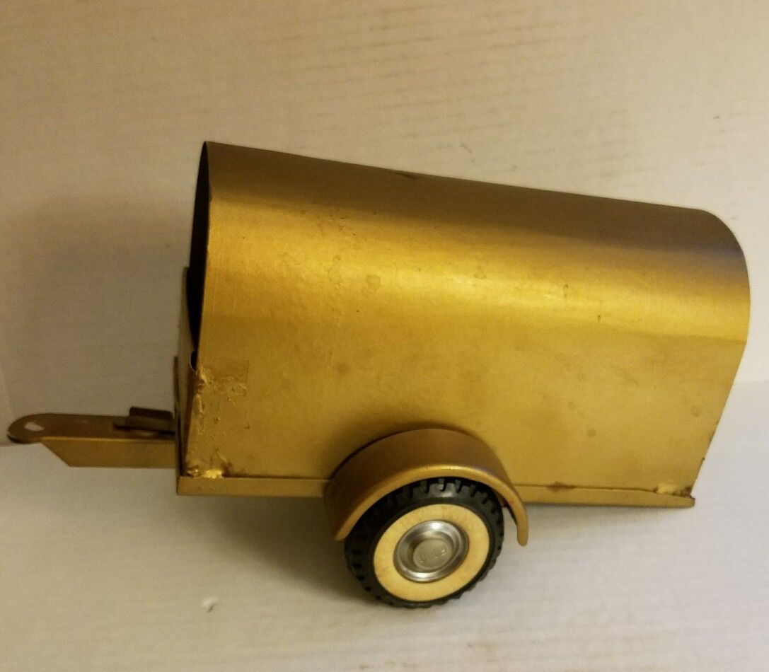 NYLINT Ny-Lint TOYS TOYS TOYS Pressed Steel FORD Hubcap TIRE 8-19.5 gold TRAILER Hauler f66a72
