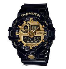 Casio G-Shock *GA710GB-1A Front Button Anadigi Gold Black Resin COD PayPal