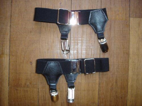 Men/'s Socks Garters Ref A17 noir double pinces fixes-chaussettes NEOFAN
