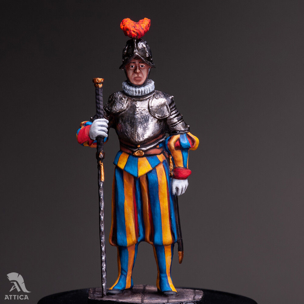Pontifical Swiss Guard Bodyguard of Pope №5 54mm Tin Toy Soldier   Collectible