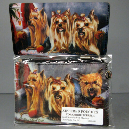 New Yorkshire Terrier Dog Zippered Pouch & Check Book Wallet Terriers Dogs