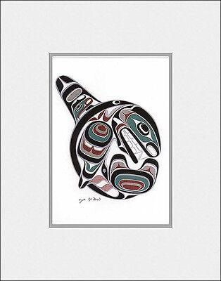 SUPERFLEAS art print KILLER WHALE OCRA - Coast Salish Cowichan artist JOE WILSON