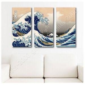 The-Great-Wave-by-Katsushika-Hokusai-Ready-to-hang-canvas-3-Panels-Wall-art