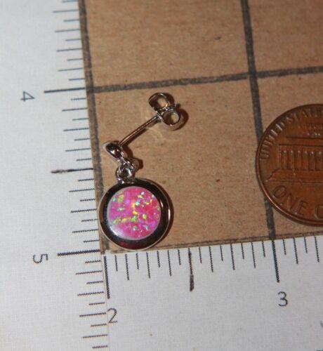 fire opal stud earrings pendant gemstone silver jewelry round petite cocktail