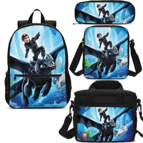 How to Train Your Dragon Teenager 17 inch Backpack Schoolbag Lunchbox Wholesale