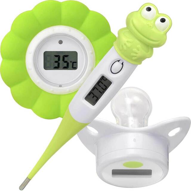 NUK Baby Thermometer 2in1 extra kleiner Messaufsatz Thermo Meter Ohrthermometer