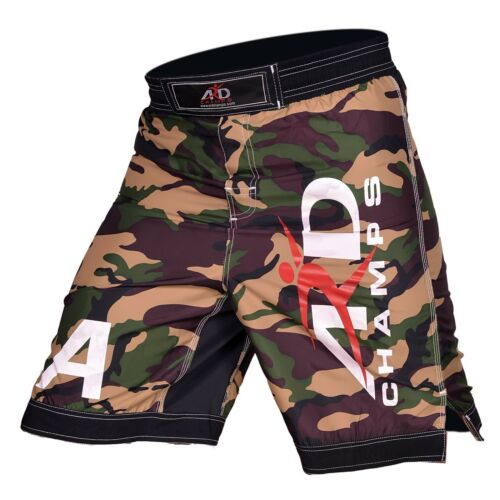ARD CHAMPS™ Camo Pro MMA Fight Shorts Yellow Camouflage UFC Cage Fight Grappling