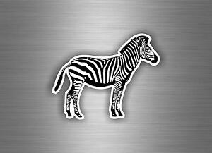 Autocollant Sticker Voiture Moto Macbook Zebre Animaux Decoration