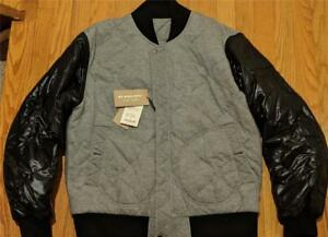 5e73d7c63 $795 Mens Authentic Burberry Brit Knit Quilted Bomber Jacket Gray 44 ...