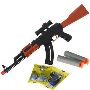 2 in 1 water crystal gel soft foam dart shooting ak47 rifle toy