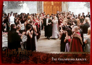 HARRY-POTTER-GOBLET-OF-FIRE-Card-063-THE-CHAMPIONS-ARRIVE-ArtBox-2005
