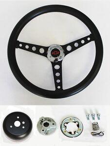 1964-1965-Chevelle-El-Camino-Black-on-Black-Steering-Wheel-Red-Black-Cap-14-1-2-034