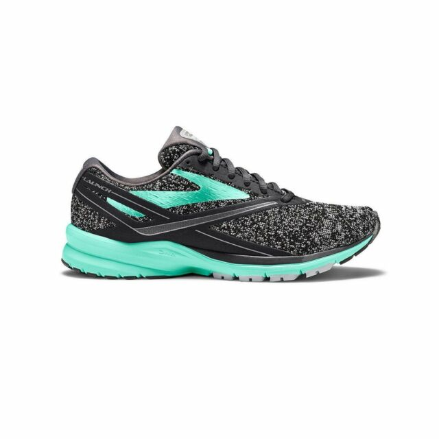 d5b52c17370 Brooks Womens Launch 4 Anthracite beach Glass silver Size 7.0 9lex ...