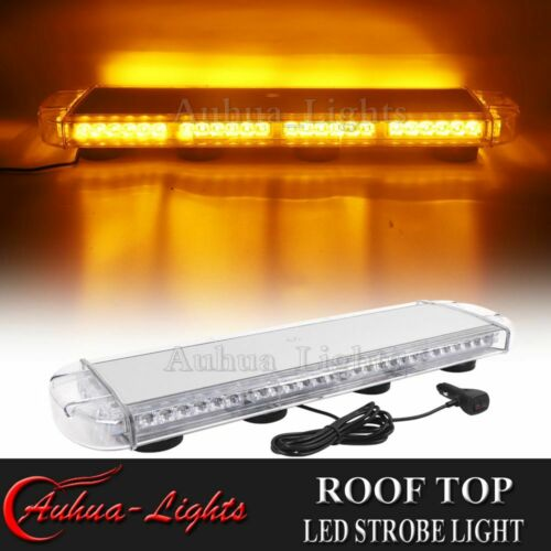 "28/"" 60W LED Emergency Beacon Warn Flash Strobe Tow Truck Rooftop Amber Light Bar"