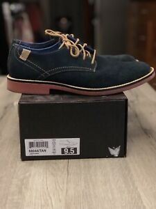 Mark-Nason-Men-039-s-Oxford-Navy-Blue-Size-9-5-Casual-Bartime-Shoes-SN-68031