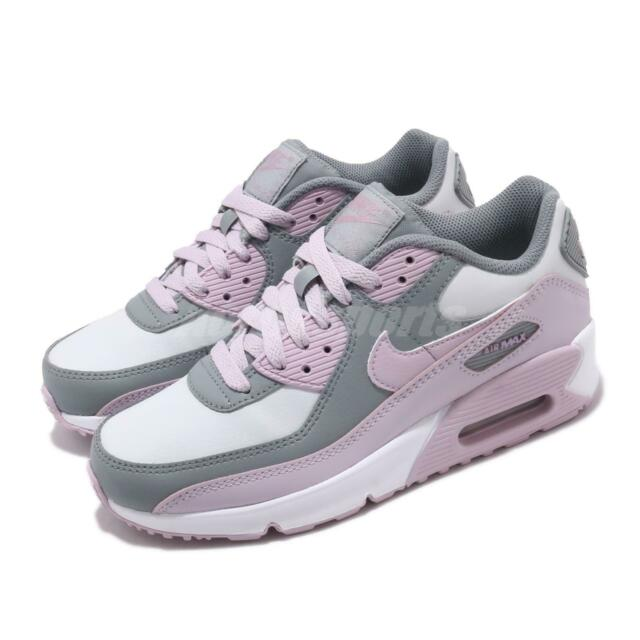 Nike Air Max 90 LTR GS Grey Pink Womens Kids Girls Lifestyle Shoes CD6864 002