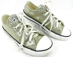 Converse All Star Gold Glitter Low Top