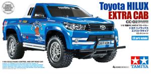 Three Battery Super Deal  Tamiya58663 Toyota Hilux Extra Cab CC-01 4WD RC Kit