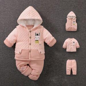 f4732d9e4 Baby Winter Thicken Coat Soft Cartoon Girl Boy Clothing Infant ...